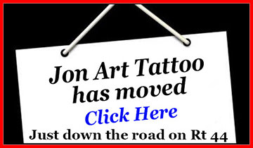Jon Art Tattoo moved just down the road to 290 Albany Ave (Rt 44) in Canton
